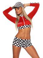 Beautys Love 1626 Racing Set, rot/schwarz/weiß, onesize