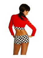 Beautys Love Racing Set, rot/schwarz/weiß, onesize