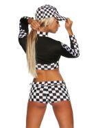 Beautys Love 1634 Racing Set, schwarz/weiß, onesize