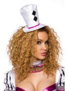 Harlekin Kostüm, schwarz/weiß/pink, onesize