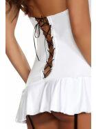 Beauty Night Fashion Eveline Strapskleid, weiß/schwarz, Gr.: L/XL (40-42)