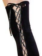 Beileisi 2043 Stockings mit Schnürung, schwarz, onesize