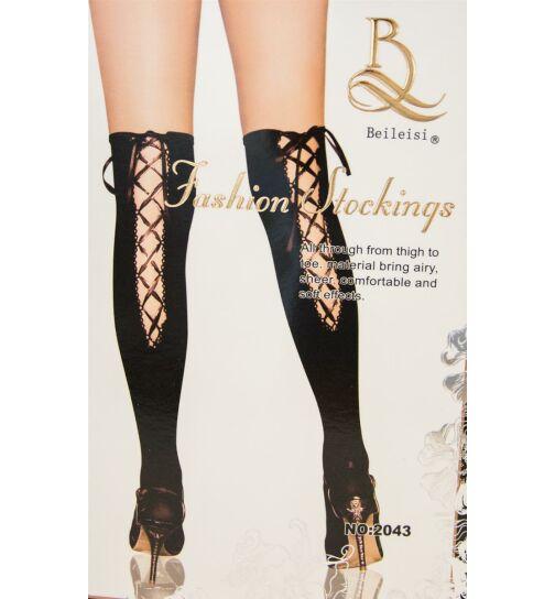 Beileisi 2043 Stockings mit Schnürung, silber, onesize