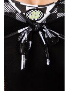 Saresia 18174 Racing-Kostüm, schwarz/weiß, onesize