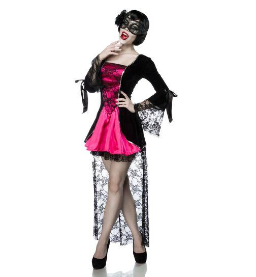 Mask Paradise 80000 Vampirkostüm: Gothic Vampire, schwarz/pink, Gr.: XS-M (34-38)