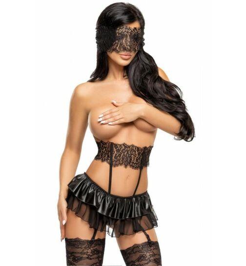 Beauty Night Fashion Berenice Straps-Set, schwarz, Gr.: L/XL (40-42)