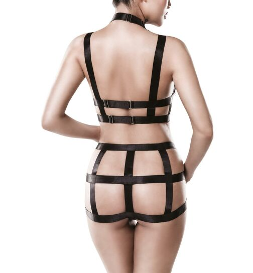 Grey Velvet 15125 2-teiliges Harness-Set, schwarz, Gr.: XS/S (34-36)