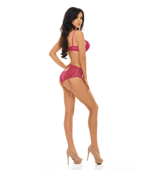 Beauty Night Fashion Ravenna Dessous-Set, fuchsia, Gr.: L/XL (40-42)