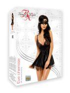 Beauty Night Fashion Eve Chemise-Set, schwarz, Gr.: L/XL (40-42)