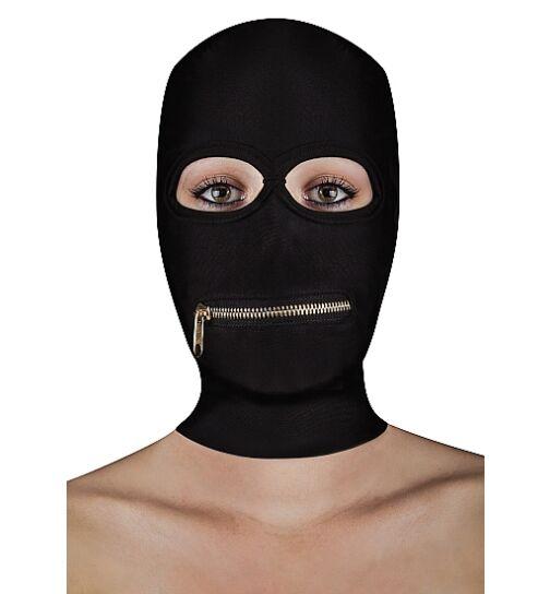 OUCH! OU175BLK Extreme Zipper Mask, schwarz, onesize
