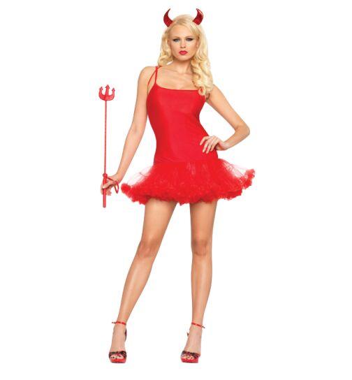 Halloween-Kostüm, rot, Gr.: S/M (36-38)