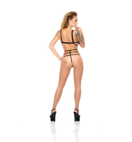 meSeduce Loris Harness-Body, schwarz, Gr.: S/M (36-38)
