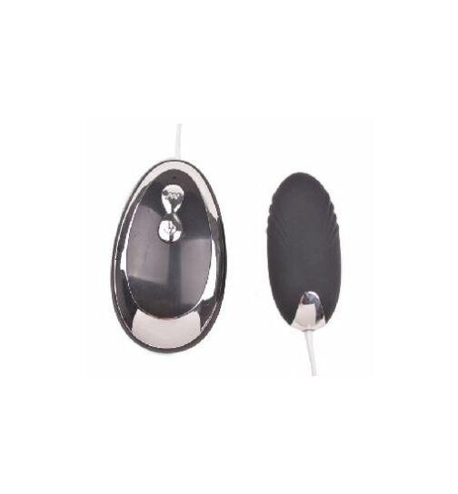 Vibrator-Ei mit Fernbedienung, 9cm, schwarz