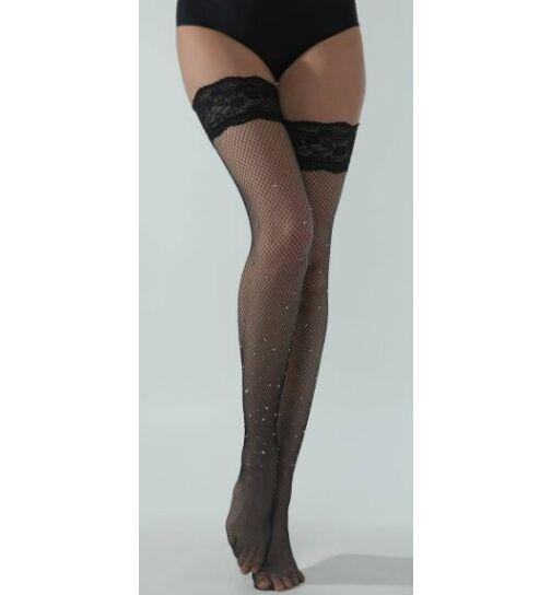Beileisi Strass-Stockings mit Silikon, schwarz, onesize