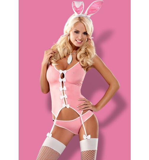 Obsessive Bunny-Set, rosa/weiß